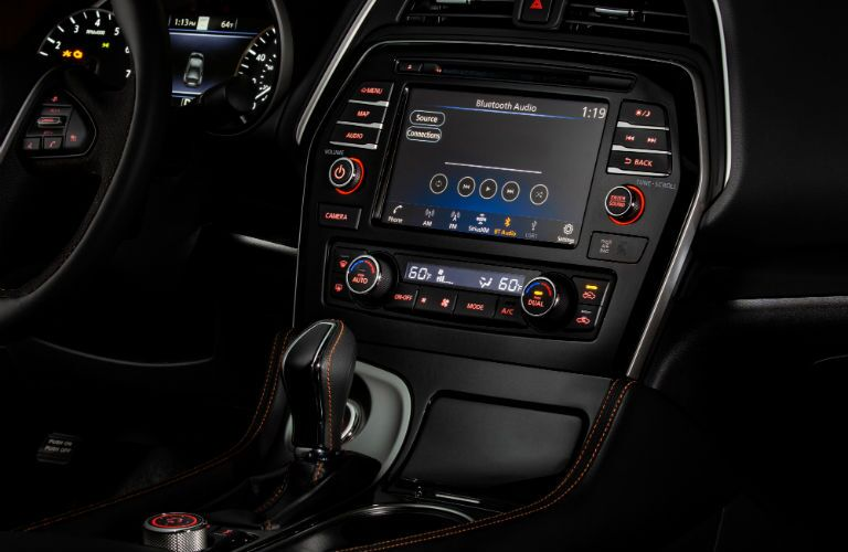 A photo of the infotainment system in the 2020 Nissan Maxima.