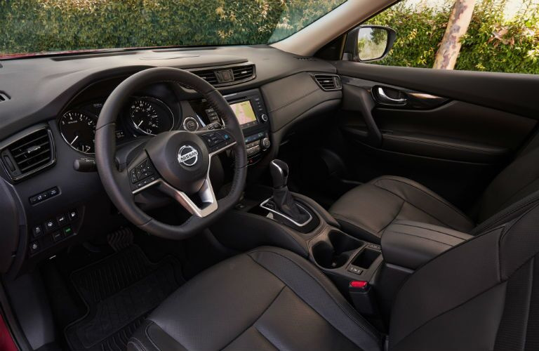 A photo of the driver's cockpit in the 2020 Nissan Rogue.