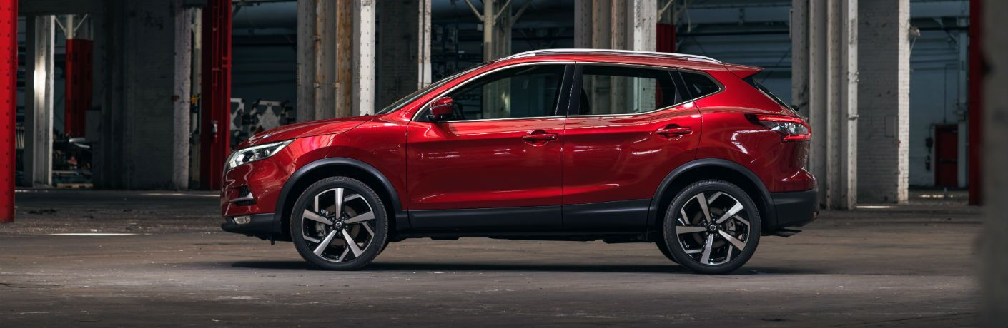 A left profile photo of the 2020 Nissan Rogue Sport.