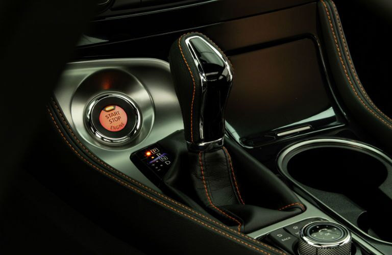 A photo of the gear-shift in the 2020 Nissan Maxima.