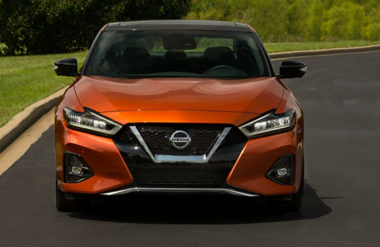A head-on photo of the 2020 Nissan Maxima.