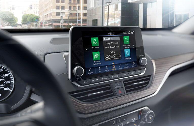 2020 Nissan Altima infotainment screen on dashboard