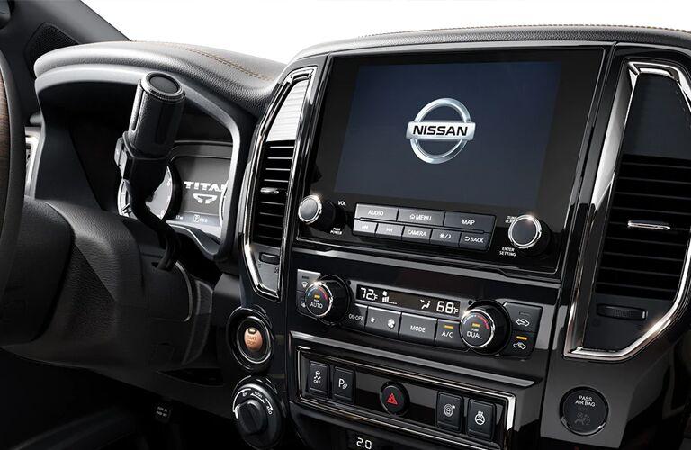 2020 Nissan Titan infotainment screen