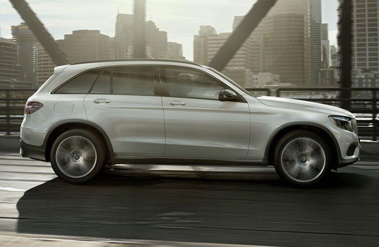 2018 Mercedes-Benz GLC white side view