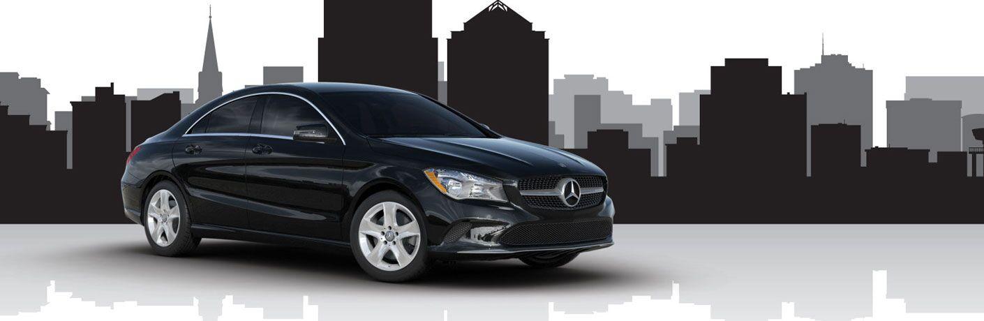 2018 Mercedes-Benz CLA black side view