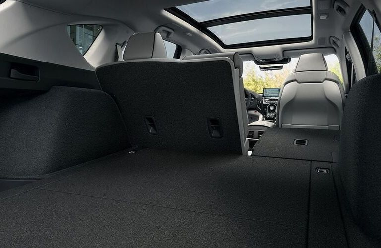 Interior view of the rear cargo area inside a 2020 Acura RDX