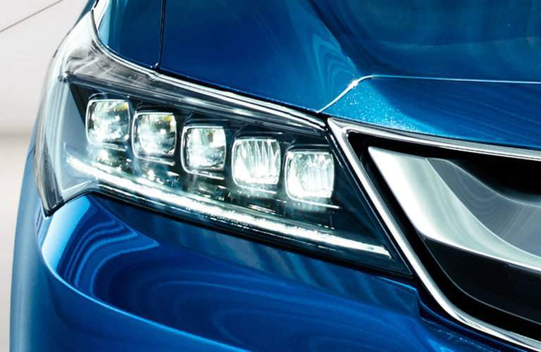 Headlight of blue 2018 Acura ILX