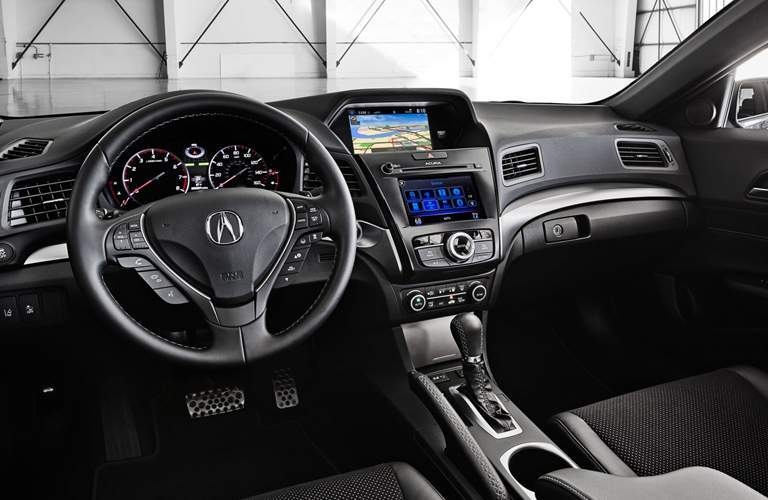 Steering wheel and front dash of the 2018 Acura ILX
