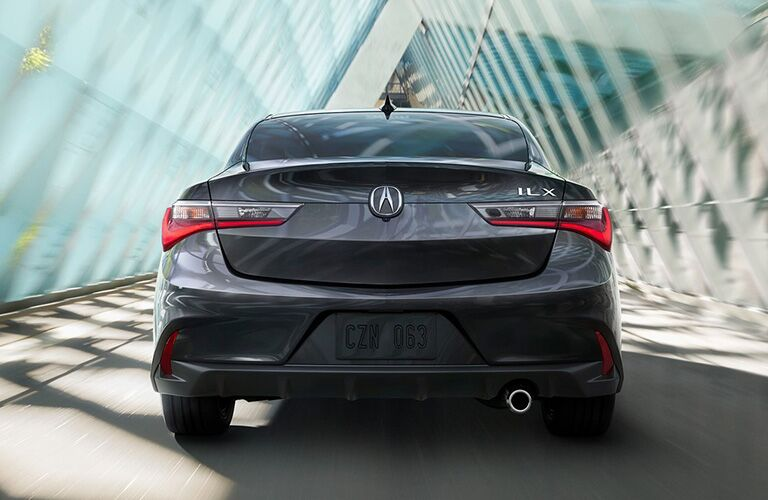 Rear shot of 2019 Acura ILX driving through tunnel