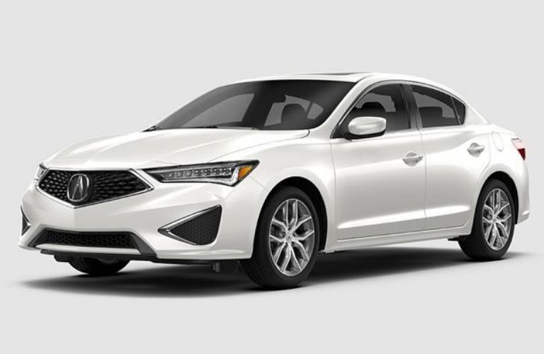 Exterior view of a white 2019 Acura ILX