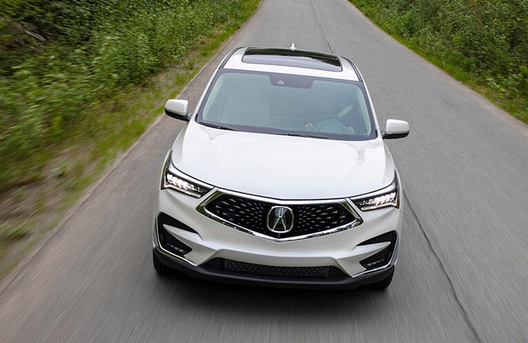 white 2019 Acura RDX on a road