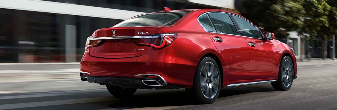 red 2019 Acura RLX rear view