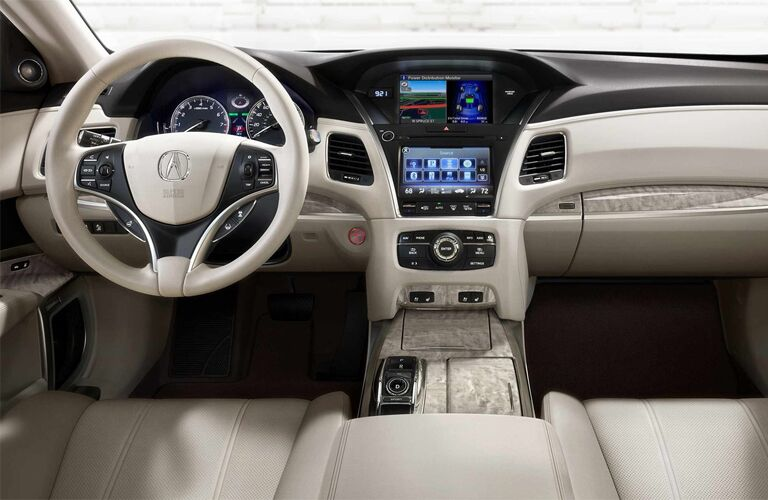 Steering wheel and dashboard of 2019 Acura RLX
