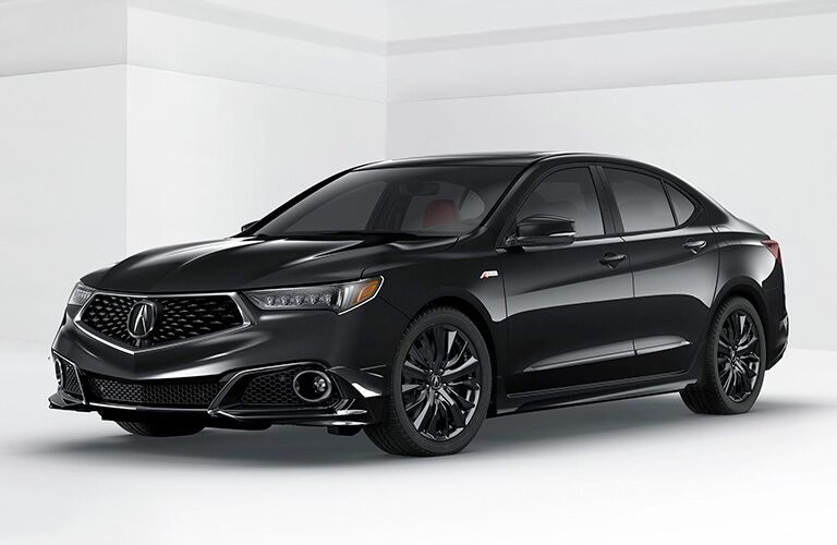 Black 2019 Acura TLX in a White Room