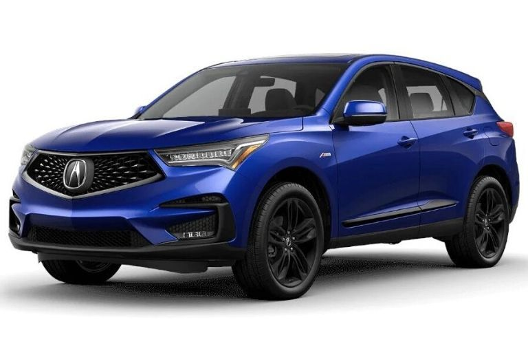 Exterior view of a blue 2020 Acura RDX A-Spec® Package