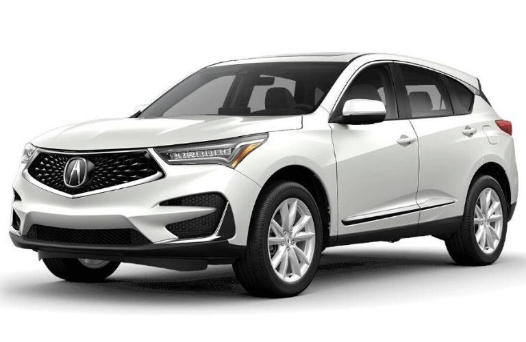 Exterior view of a white 2020 Acura RDX Standard Package