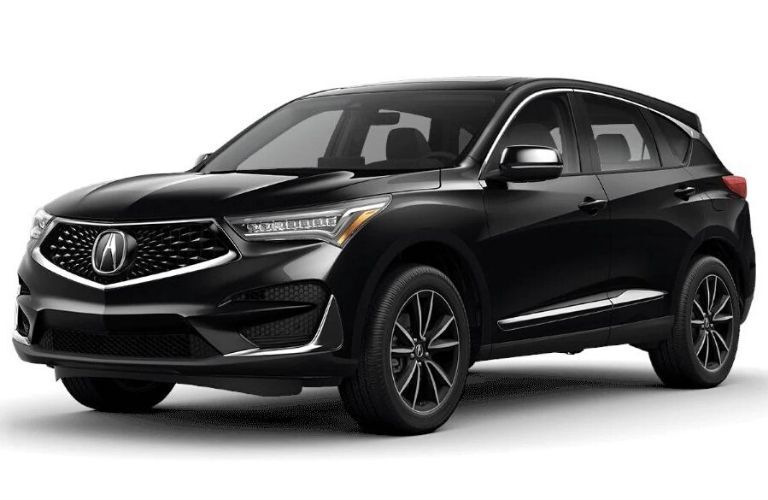 Exterior view of a black 2020 Acura RDX Technology Package