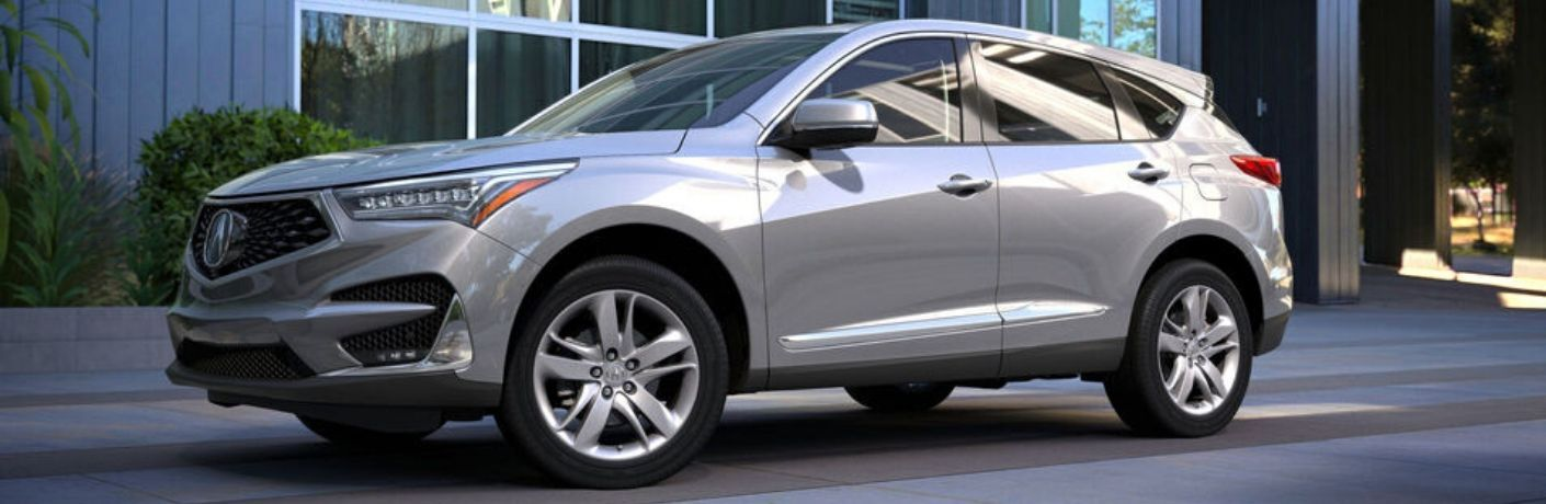 Exterior view of a gray 2020 Acura RDX