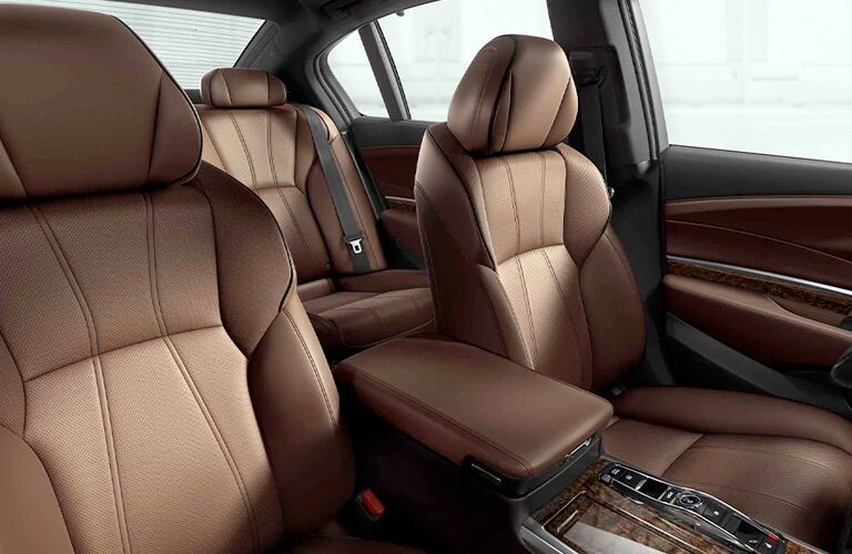 Brown seats in 2020 Acura RLX