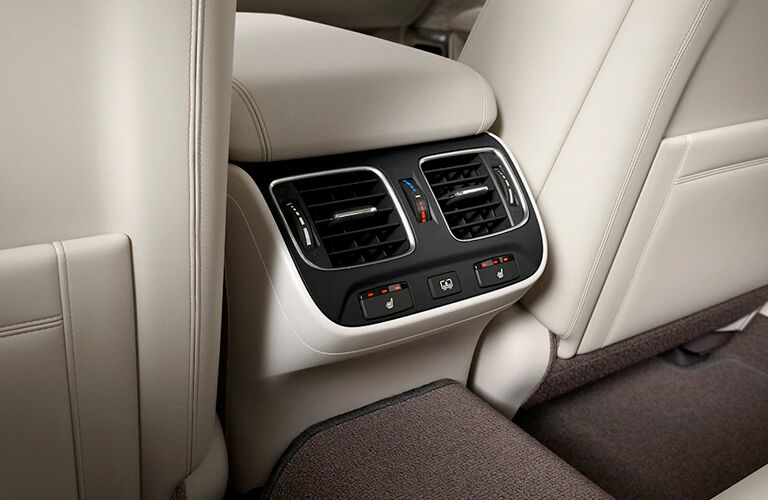 Center console and vents in 2020 Acura RLX