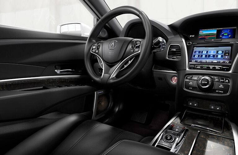 Steering wheel, gauges, and touchscreen in 2020 Acura RLX