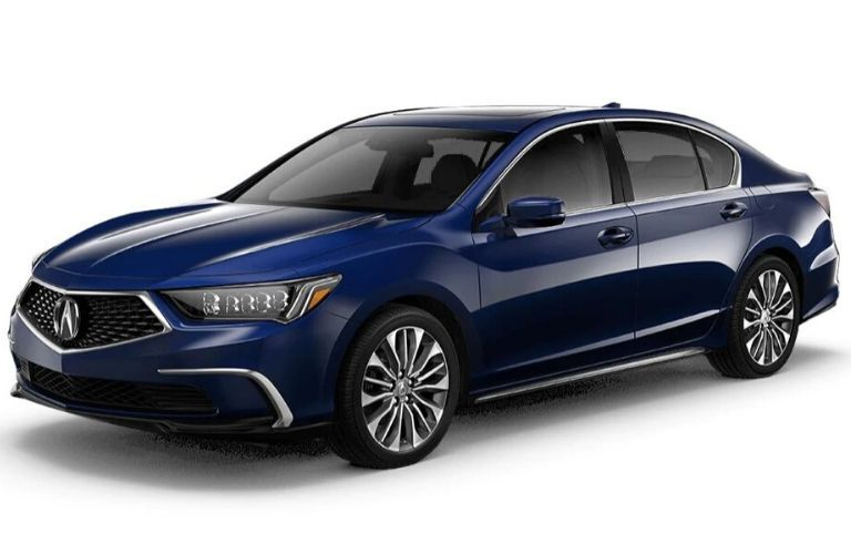 Exterior view of a blue 2020 Acura RLX Technology Package