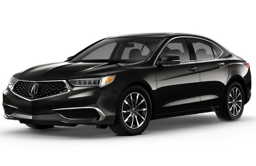 Exterior view of a black 2020 Acura TLX with Standard Package