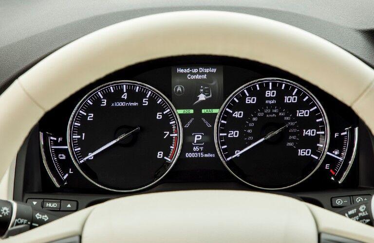 2020 Acura RLX gauge cluster