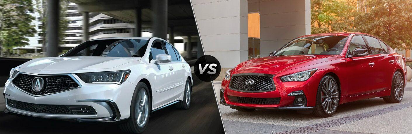 2020 Acura RLX vs 2021 INFINITI Q50