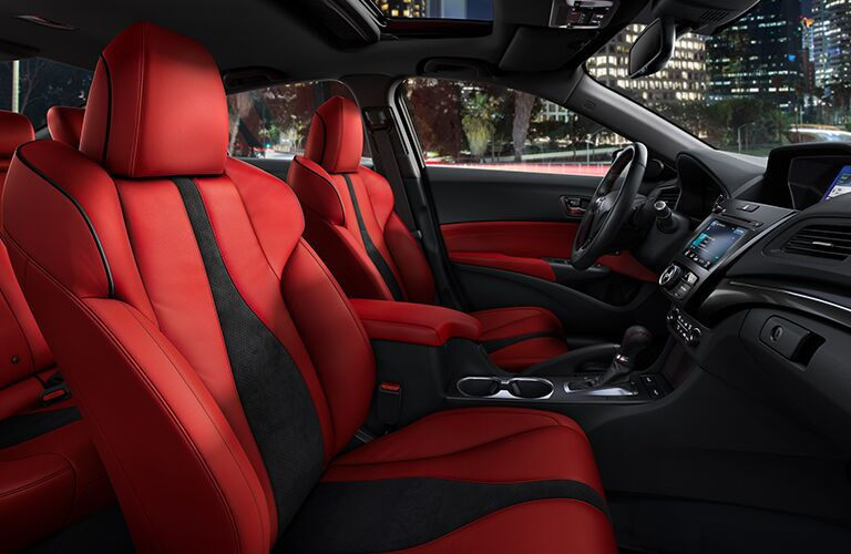 Red 2021 Acura ILX Front Seat Interior