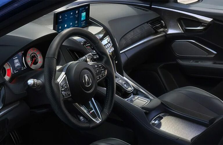 Steering wheel, gauges, and touchscreen in 2021 Acura RDX