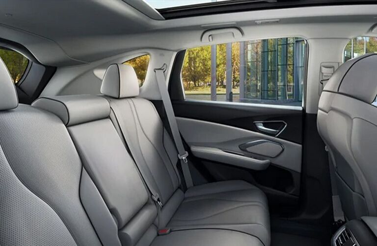 Gray rear seats in 2021 Acura RDX
