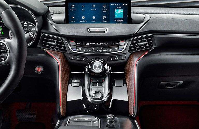 Steering wheel, gauges, and touchscreen in 2021 Acura TLX