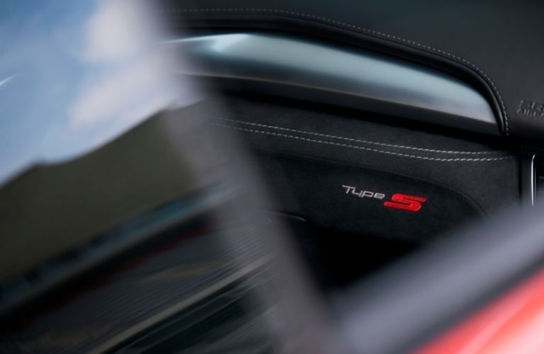 Type S logo on glove box of 2022 Acura NSX Type S