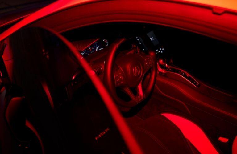steering wheel of 2022 Acura NSX Type S