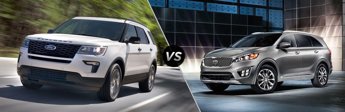 2018 Ford Explorer vs 2018 Kia Sorento