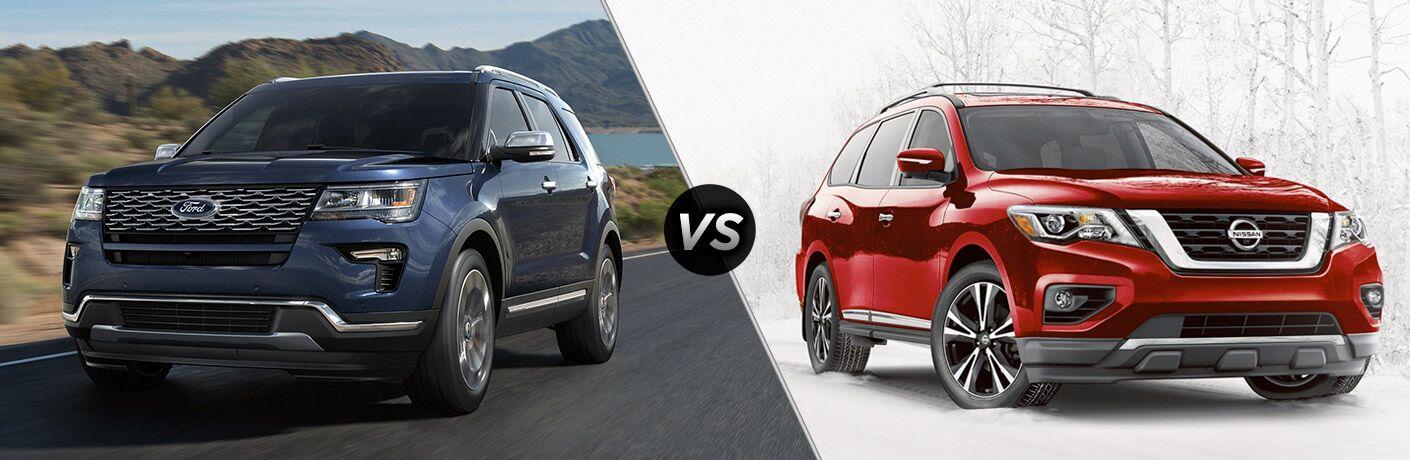 2018 Ford Explorer vs 2018 Nissan Pathfinder
