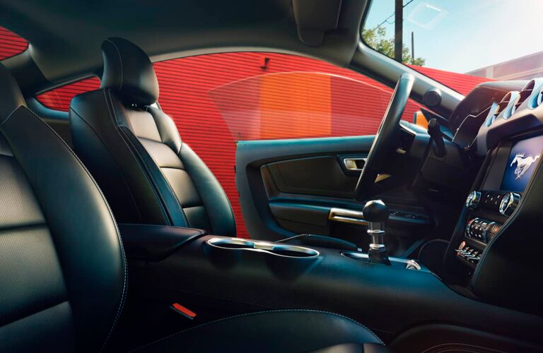 2018 Ford Mustang side-view of front seats