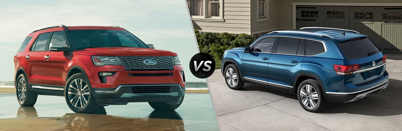 2019 Ford Explorer vs 2019 Volkswagen Atlas