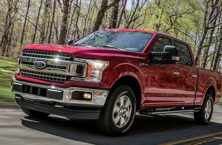 2019 Ford F-150 driving on the road