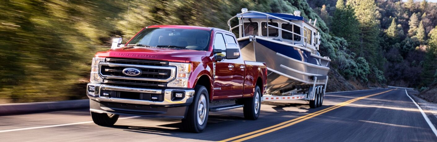 2020 Ford Super Duty driving on the road