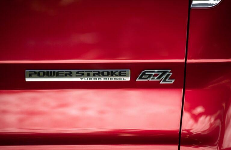 2020 Ford Super Duty door logo