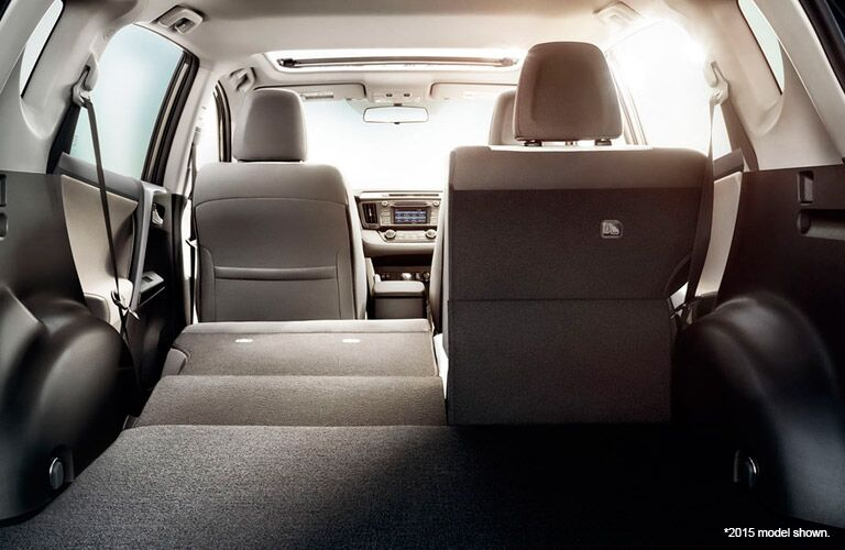 2016 toyota rav4 cargo space interior second row