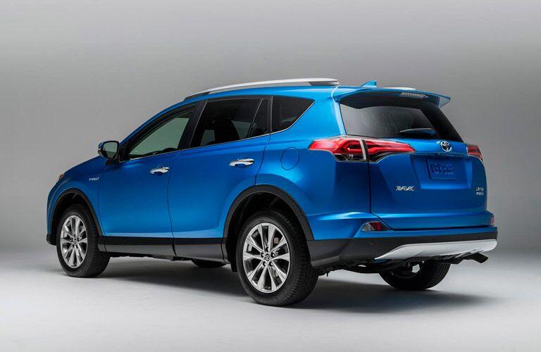 2016 toyota rav4 hybrid exterior blue cargo space