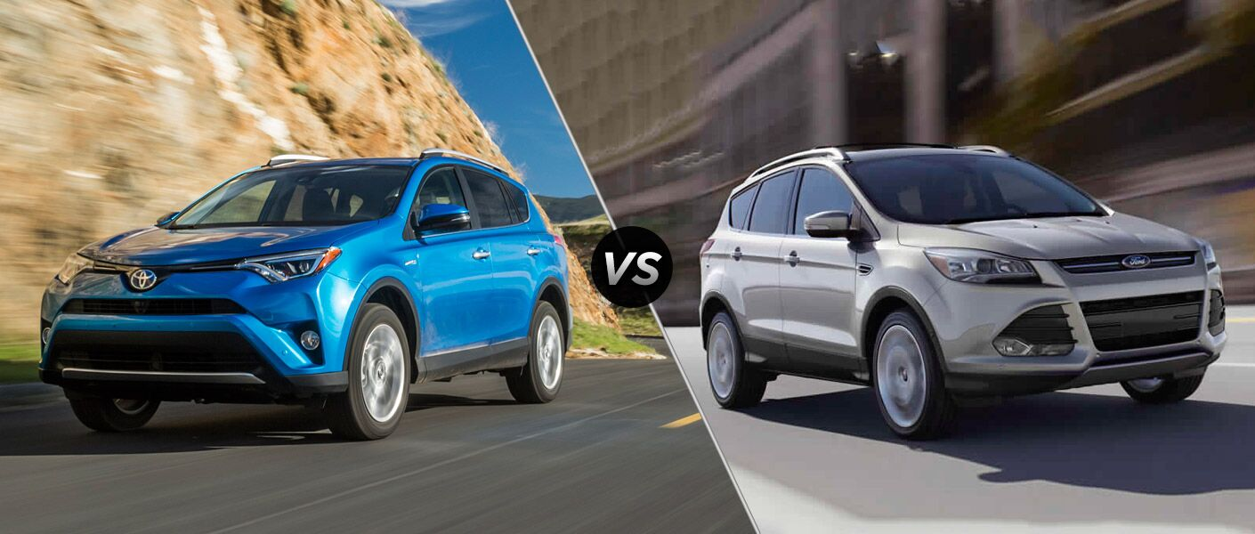2016 rav4 vs 2016 ford escape exterior hybrid option all wheel drive sunroof cargo space