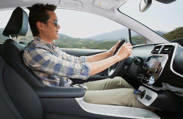 Interior on the 2016 Toyota Prius