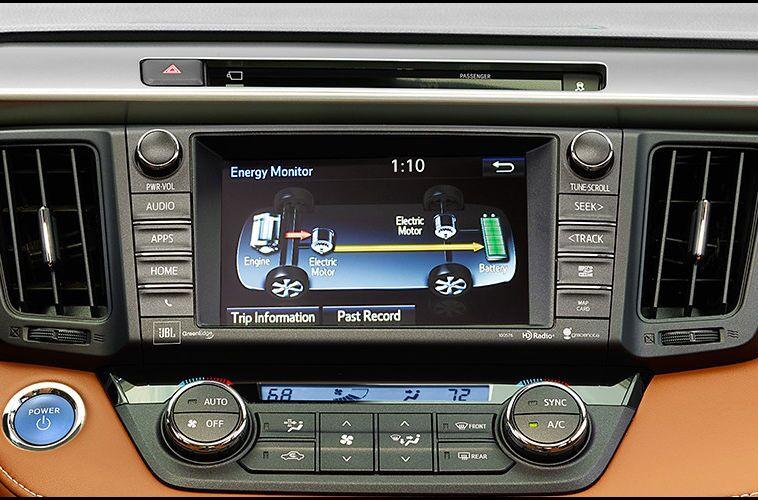 2016 toyota rav4 hybrid touchscreen interior