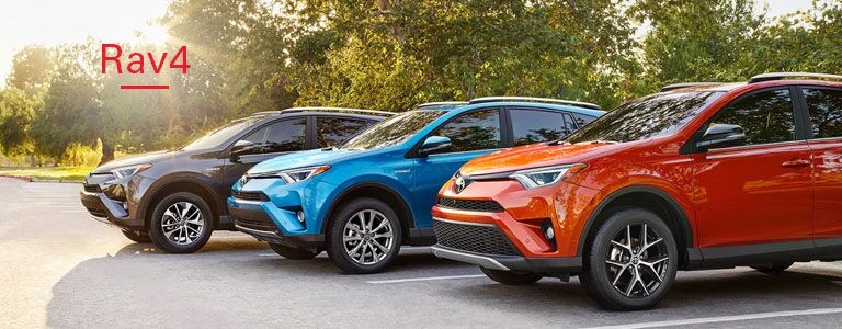 2016 toyota rav4 exterior orange blue grey wheels headlights