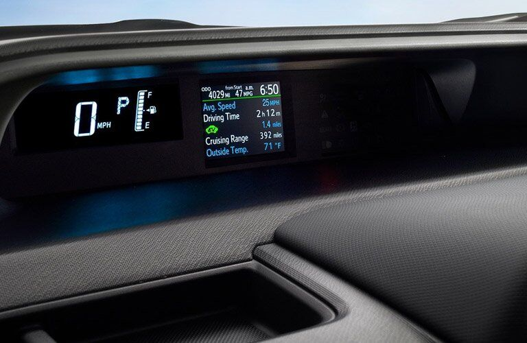 2017 toyota prius c dashboard eco monitoring