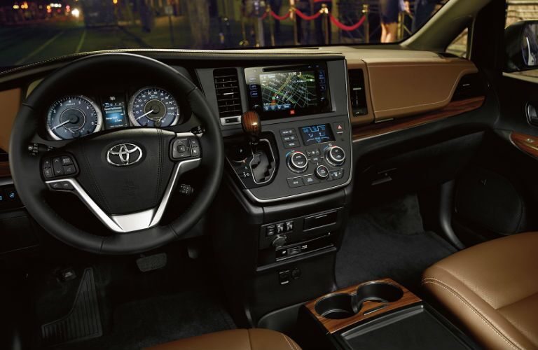 2017 toyota sienna interior dashboard touchscreen steering wheel